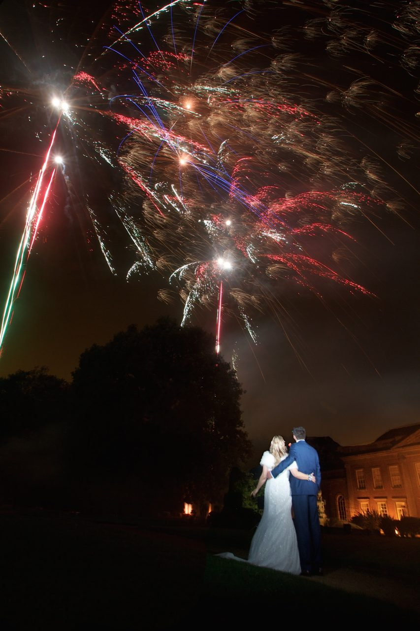 Wedding Fireworks couple